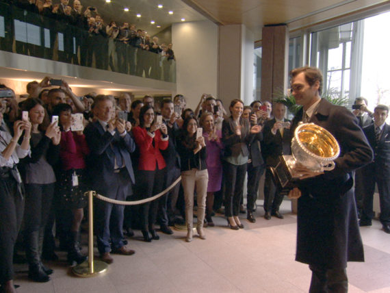 Visite de Roger Federer au siège de Rolex
